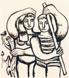 Tajan - Fernand Léger (1881-1955) Couple de baigneurs, 1939  - Modern Art auction June 28