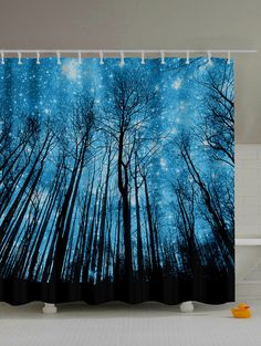 $13.40 Forest Landscape Print Waterproof Bath Decor Shower Curtain