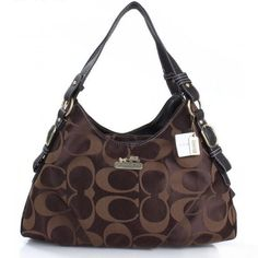 Newest Coach Fashion Signature Medium Coffee Shoulder Bags ERG have Arrived!
