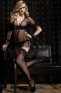 LINGERIE LIFE - Detail1 - B86339 - Black Rose Sheer Wrap - The Accessories - The Gown - LINGERIE LIFE