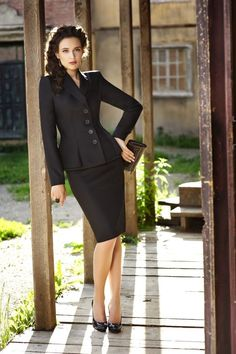 Skirt Suit on Pinterest | Business Suit Women, Satin Blouses and ...                                                                                                                                                      More