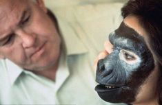 Image result for planet of the apes 1968 makeup transformation john chambers