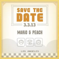 Mario Save The Date