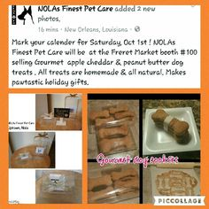 See 1 tip from visitors to NOLAs Finest Pet Care. Gourmet Apples, Pet Home, Dog Treats, New Orleans, Homemade, Pets, Home Made, Doggie Treats, Hand Made