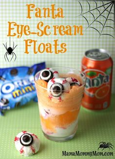 Scary Fun Fanta Eye-Scream Floats #SpookySnacks #Ad #Halloween @walmart