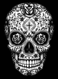 Skull Candy Tattoo, Mexican Skull Tattoos, Sugar Skull Tattoos, Sugar Skulls, Sugar Skull Artwork, Candy Skulls, Disney Tattoos, Skull Tattoo Design, Tattoo Designs