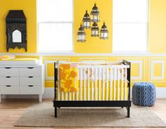 Kind of obsessed with yellow rooms... Maybe a little more muted for a nursery?