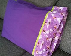 Purple / Sofia pillowcases $22.00 a set of 2 1 set available Standard size/ cotton fabric