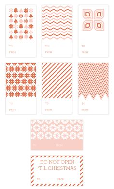 Printable Holiday Gift Tags Pink - and several more to choose from. The link is still active as of 02/02/13