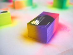 Fade Spray paint edge business cards