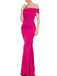 Off Shoulder Solid Mermaid Evening Dress