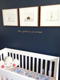 Olivia's Blue and Coral Nursery | Shoes Off Please