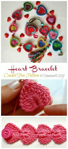 Crochet Valentine Heart Gift Ideas Projects Free Patterns: The list covers love hat, scarf, heart tops, jewelry, blankets and table runner. Knitting TechniquesCrochet For BeginnersCrochet ProjectsCrochet Ideas Knitting Patterns Free, Free Pattern, Crochet Patterns, Crochet Stitches, Crochet Gifts, Cute Crochet, Project Free, Crochet Bracelet, Valentine Heart