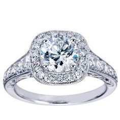 "Ben Garelick Royal Celebrations ""Eva"" Halo Diamond Engagement Ring · ER7293W44JJ · Ben Garelick Jewelers"