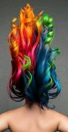 Colorful Rainbow Hairflip - photo by Jon Wolding