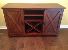 Beautiful wood cabinet -- great for TV stand or bar in dining room