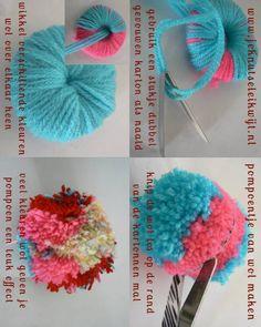 Pompoen maken van wol