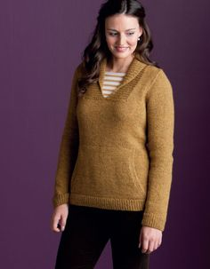 Trust Pullover - Cascade's Eco + Yarn  Kristen TenDyke - Finish-Free Knits