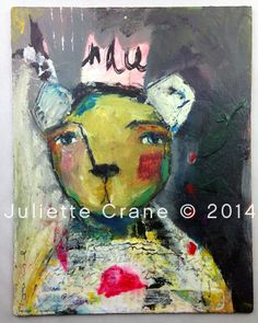 "Indeed - an Original Mixed Media Painting 11x14"" by #juliettecrane a painting demo in #blissclass"