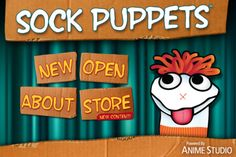 Sock Puppets. A fun free iPad/iPhone app for telling a story w/ a sock puppet and recording audio.