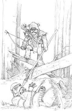 Max Dunbar: A sketch of an #EWOK for @Sketch_Dailies