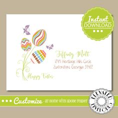 EDITABLE Easter ENVELOPE Template,Easter Envelope ADDRESSING,Easter,Recipient Addressing,Envelope Addressing,Instant Download by ElevatedEnvelopes on Etsy