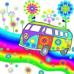 era paper decoupage napkin with a VW Van, flower child designs Use for all your decoupage projects. Buy your decoupage supplies at Decoupage Designs USA Paz Hippie, Estilo Hippie, Hippie Peace, Happy Hippie, Hippie Love, Hippie Chick, Hippie Style, Hippie Party, Bully Vw