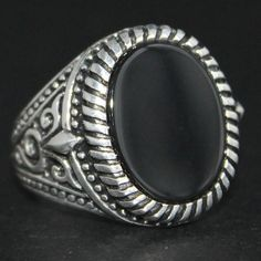 Sterling Silver Classic Ring for Men with by KaraJewelsTurkey, $48.00
