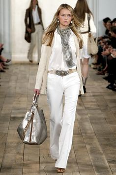 Ralph Lauren Spring 2011 Ready-to-Wear Collection Photos - Vogue Looks Style, Style Me, Style Blog, Look Fashion, Womens Fashion, Fashion Trends, Fall Fashion, Curvy Fashion, Street Fashion
