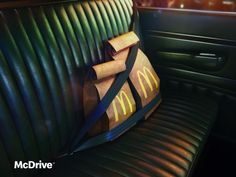 McDonald's Print Advert By TBWA: McDrive on board   Ads of the World™ Clever Advertising, Mcdonalds, Ads, Board, Art Direction, Poster, Billboard, Planks