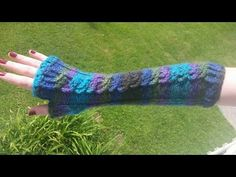 Loom Knit 4 Stitch Cable Gloves Beginning to End