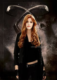 """Katherine McNamara as Clary Fray on 'Shadowhunters'  I think she is pretty close to the description of """"Clary"""" but she needs the green eyes are more reddish hair"""