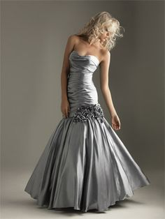 Definetly could show my hourglass In this.. But I hate taffeta