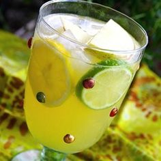 """Sangria (White)   """"Red sangria is refreshing, but white just seems even better for those ridiculously hot Texas summer days!"""""""