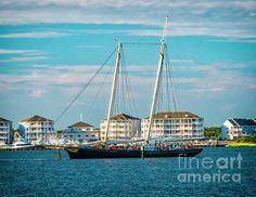 The yacht America sails in to Cape May New Jersey. Replica of the Schooner That Launched The America's Cup Tradition