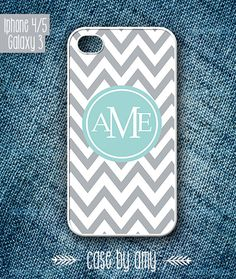 Monogrammed iPhone Case - iPhone 5 Case, iPhone 5 Cover, Personalized iPhone Case, Samsung galaxy case - $16.80  at http://casebyamy.etsy.com