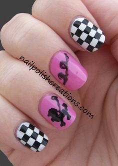 Nails Pudel- und Dame-Nägel The Shocking Truth About Female Hair Loss When you talk about genetic ha Checkered Nails, Birthday Nails, 9th Birthday, Toe Nails, Salon Nails, Pretty Nail Art, Halloween Nails, Diy Halloween, Accent Nails