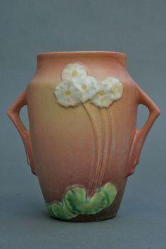 Sale  Another Markdown Roseville Pottery Primrose Vase No.7606 in Pink Glaze
