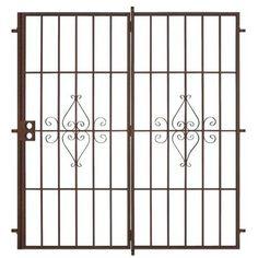 Unique Home Designs Su Casa 72 in. x 80 in. Copper Outswing Patio Security Door - SPD02020721055 at The Home Depot