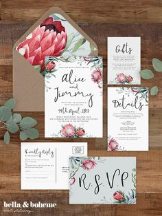 Rustic Wedding Invitations Templates Free New Wild Hearts Wedding Invitation Suite Printable Invitation Template Rustic Wedding Protea Wedding Free Printable Envelope Liner Heart Wedding Invitations, Floral Wedding Invitations, Wedding Invitation Templates, Invitation Suite, Event Invitations, Engagement Invitations, Wedding Favors, Invitations, Wedding Invitation Design