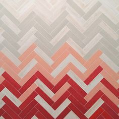 Killer herringbone tile