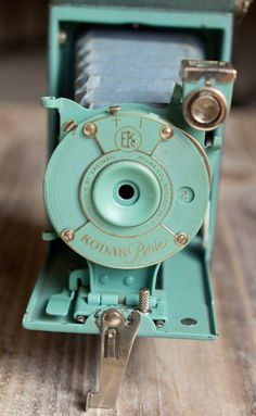 Vintage Green Kodak Petite Folding Camera with Original Bellows - Rare