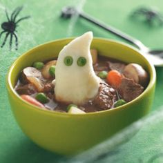 Halloween Recipe: Beef Stew with Ghoulish Mashed Potatoes #HalloweenMilkMoments