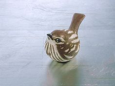 Ceramic Sparrow Sculpture by Anderson Studio