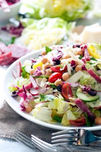 Italian Chopped Antipasto Salad #recipe #summer #olives