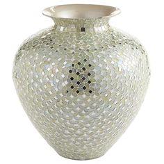 White & Silver Mosaic Vases   Pier 1 Imports