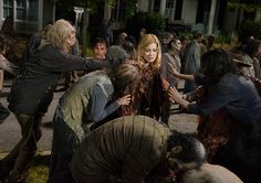 Rick Grimes (Andrew Lincoln) and Jessie Anderson (Alexandra Breckenridge) in Episode 9 Photo by Gene Page/AMC