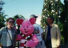 Our next trip was the end of 2000. We took our 2 youngest with us. Piglet & his winter scarf.