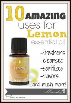 Young Living Essential Lemon Oil is truly another essential oil to always have on hand.