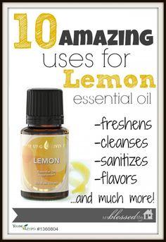 10 Amazing Uses for Lemon Essential Oil via MyBlessedLife.net